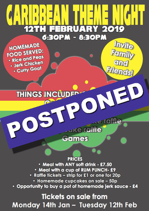Caribbean night postponed