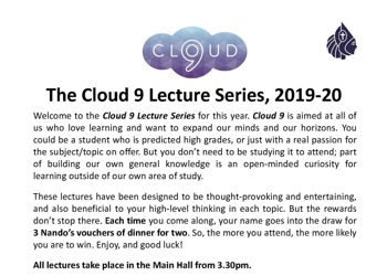 Cloud 9 lecture poster v3